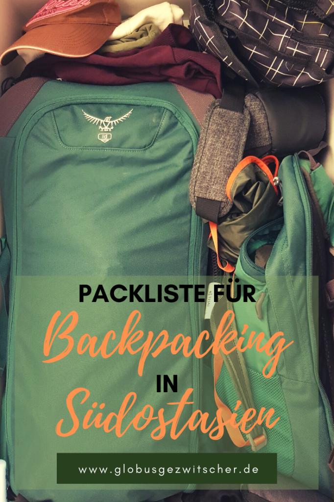 Ein Blick in den Schrank: Backpacking Packliste für Südostasien