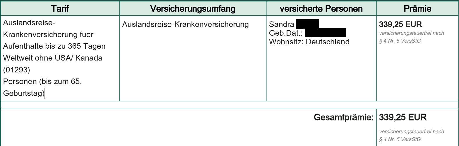 HanseMerkur Auslandskrankenversicherung