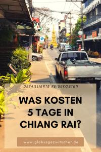 Backpacking Reisekosten in Chiang Rai