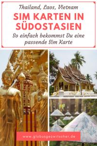 Pinterest Grafik mit Sehenswürdigkeiten aus Thailand, Laos und Vietnam